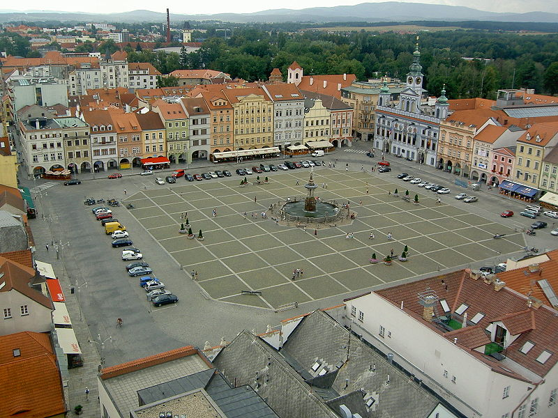 The central square, seen from the Black Tower