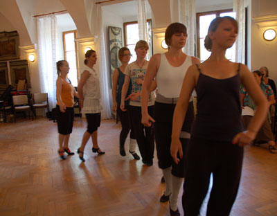 Dancers at work